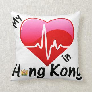 My Heart Beats in Hong Kong Throw Pillow