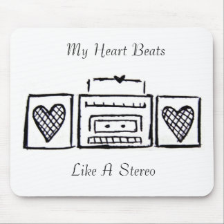 My Heart Beats Mouse Pad