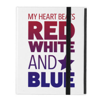 My Heart Beats Red, White and Blue iPad Case