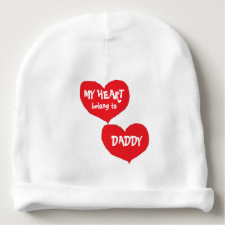 MY HEART BELONG TO DADDY INFANT BEANIE CAP