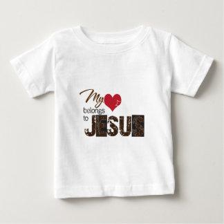 My Heart Belong to Jesus Baby T-Shirt