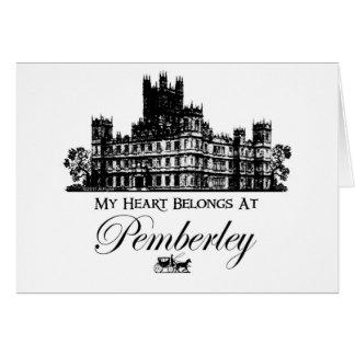 My Heart Belongs At Pemberley Greeting Cards