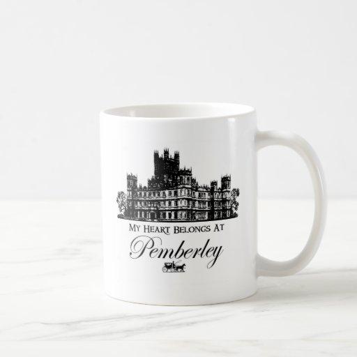 My Heart Belongs At Pemberley Classic White Coffee Mug