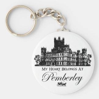 My Heart Belongs At Pemberley Keychain