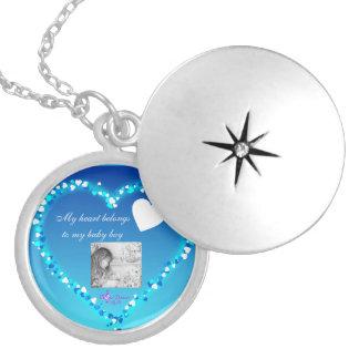 My Heart Belongs...Baby Boy Silver Plated Locket