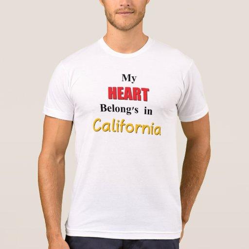 My heart belongs in California T-Shirt