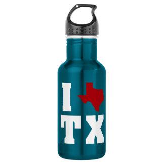 My heart belongs in Texas Water Bottle