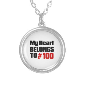 My Heart Belongs To # 100 Round Pendant Necklace