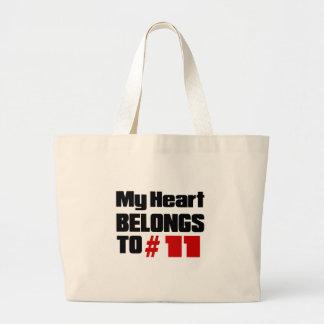 My Heart Belongs To # 11 Jumbo Tote Bag