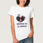 My Heart Belongs to a Airman T Shirts