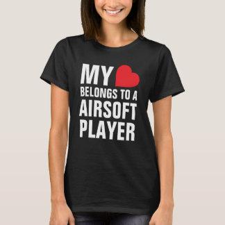 My heart belongs to a Airsoft Player T-Shirt