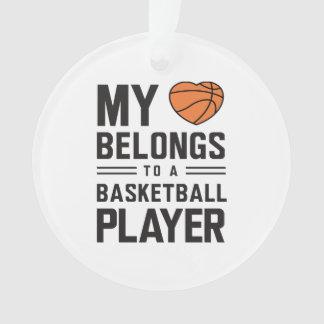 My Heart Belongs to a Baller Ornament