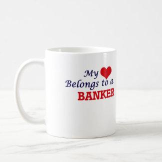 My heart belongs to a Banker Coffee Mug
