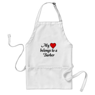 My heart belongs to a Barber Adult Apron