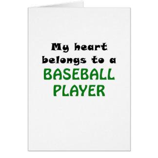 My Heart Belongs to a Baseball Player Card