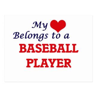 My heart belongs to a Baseball Player Postcard