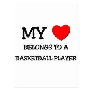 My Heart Belongs To A BASKETBALL PLAYER Postcard