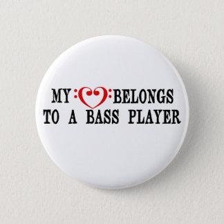 My Heart Belongs To A Bass Player Pinback Button