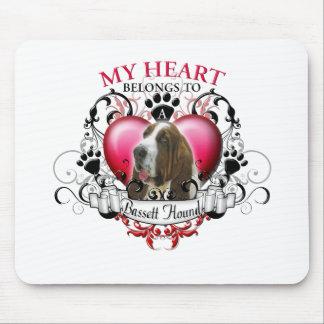 My Heart Belongs to a Bassett Hound Mouse Pad