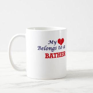 My heart belongs to a Bather Coffee Mug