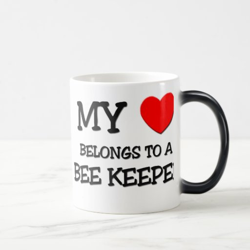 My Heart Belongs To A BEE KEEPER 11 Oz Magic Heat Color-Changing Coffee Mug