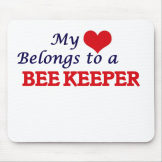 My heart belongs to a Bee Keeper Mouse Pad