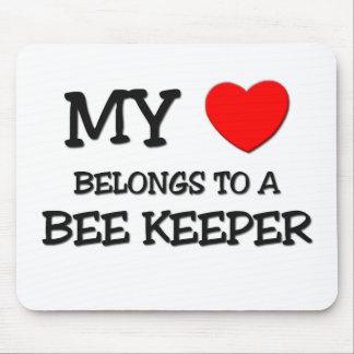 My Heart Belongs To A BEE KEEPER Mouse Mat