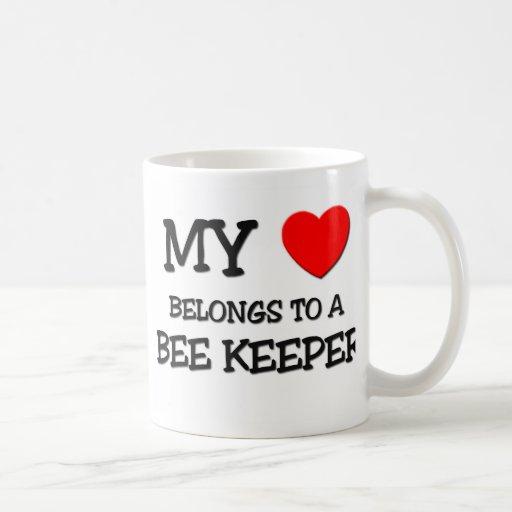 My Heart Belongs To A BEE KEEPER Classic White Coffee Mug