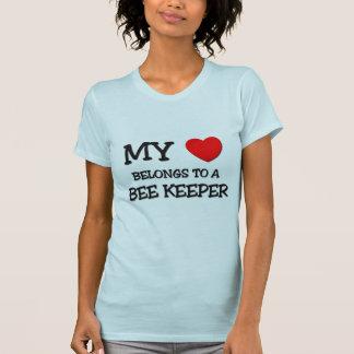 My Heart Belongs To A BEE KEEPER T-Shirt