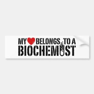 My Heart Belongs To A Biochemist Bumper Sticker