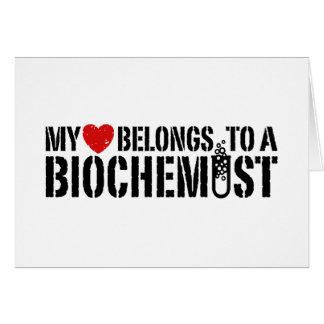 My Heart Belongs To A Biochemist Greeting Cards