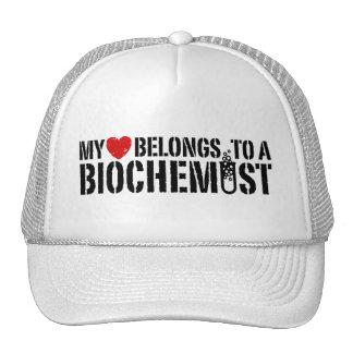 My Heart Belongs To A Biochemist Mesh Hat
