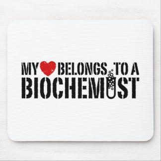 My Heart Belongs To A Biochemist Mousepads