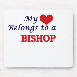 My heart belongs to a Bishop Mouse Pad