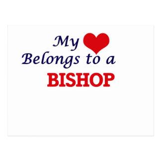 My heart belongs to a Bishop Postcard