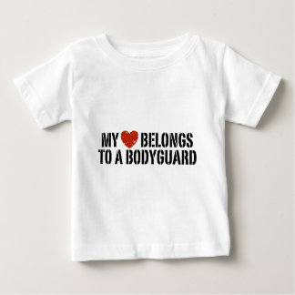 My Heart Belongs to a Bodyguard Baby T-Shirt