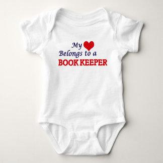 My heart belongs to a Book Keeper Baby Bodysuit