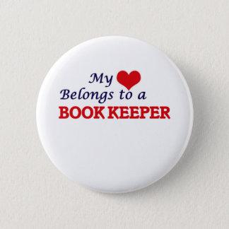 My heart belongs to a Book Keeper Pinback Button