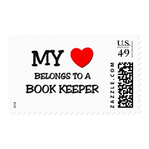 My Heart Belongs To A BOOK KEEPER Stamps