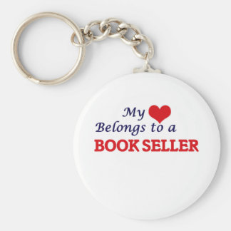 My heart belongs to a Book Seller Keychain