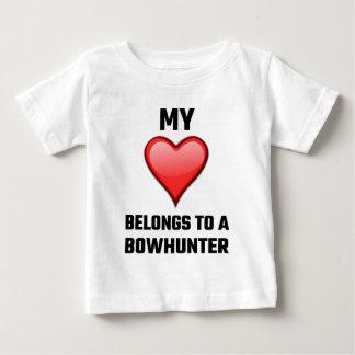 My Heart Belongs To A Bowhunter Baby T-Shirt