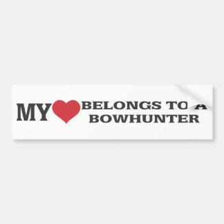 My Heart Belongs to a Bowhunter Bumper Sticker