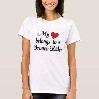 My heart belongs to a Bronco Rider T-Shirt