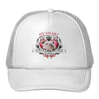 My Heart Belongs to a Bulldog Trucker Hats