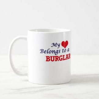 My heart belongs to a Burglar Coffee Mug