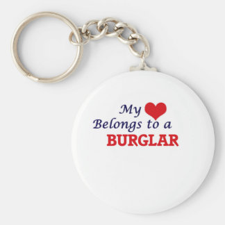 My heart belongs to a Burglar Keychain