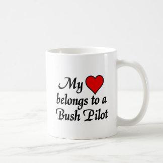My heart belongs to a Bush Pilot Coffee Mug