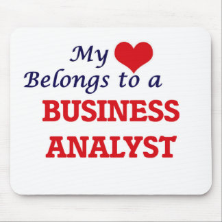 My heart belongs to a Business Analyst Mouse Pad