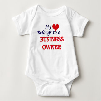 My heart belongs to a Business Owner Baby Bodysuit