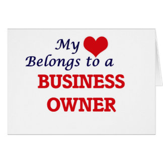 My heart belongs to a Business Owner Card